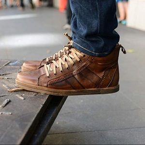 Bed Stu | Men's Brown Brentwood Sneaker High Tops
